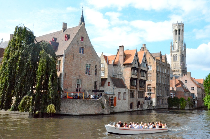 Boat trip on one of the canals in Bruges
