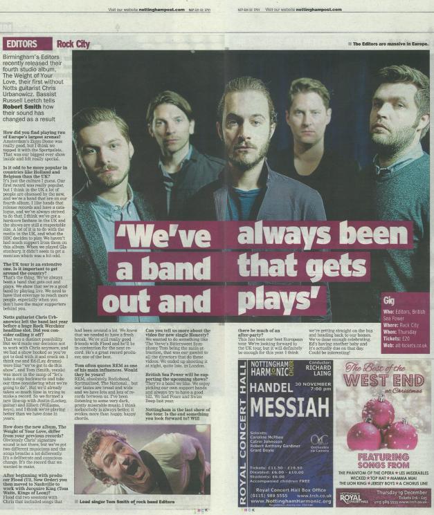 Nottingham Post, 22 Nov 2013