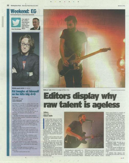 Nottingham Post, 30 Nov 2013
