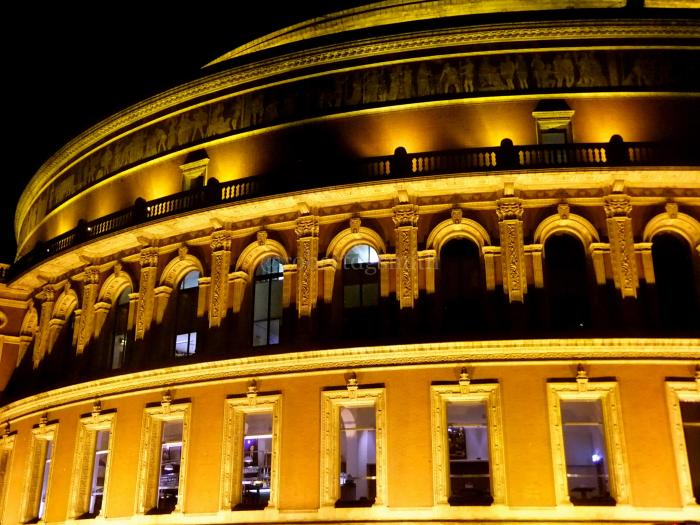 Royal Albert Hall Outside Dark Lights