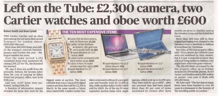 Evening Standard, 24 December 2014