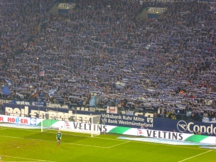 Schalke 04 fans in the Nordkurve