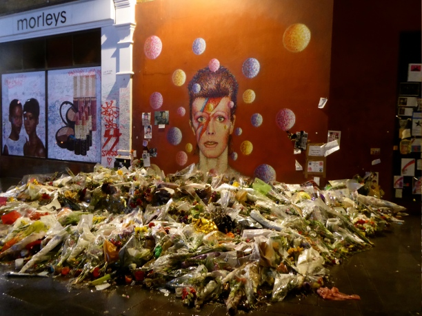 David Bowie mural on Tunstall Road