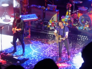 Jonny Buckland and Chris Martin