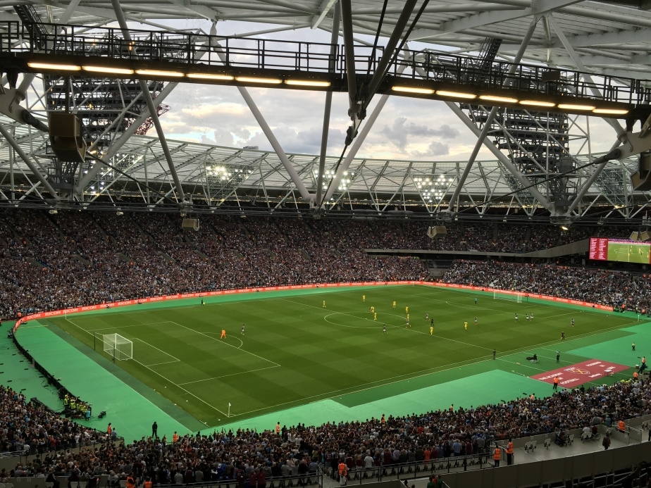 West Ham's first match at the OlympicStadium